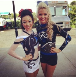 forever-cheering:  itsinourdna:  marylandtwisters:  Jessica & Kelcie in their full tops! so cute!  (kanye west voice) hey panthers I'm really happy for you and umma let you finish but F5 had one of the best full top uniforms of all time  ^ truuu
