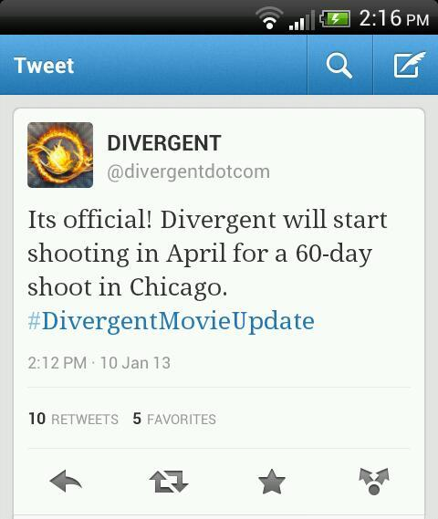 bedivergent-befourtris:  Filmings officially starts in April