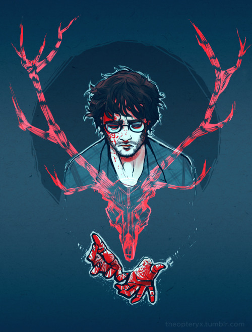 drawsaurus:  theopteryx:  Some Hannibal artwork because I am pretty infatuated with this show! This one's for drawsaurus and liminal-zone because it's totally their fault in the first place.  SHAKING AND CRYING