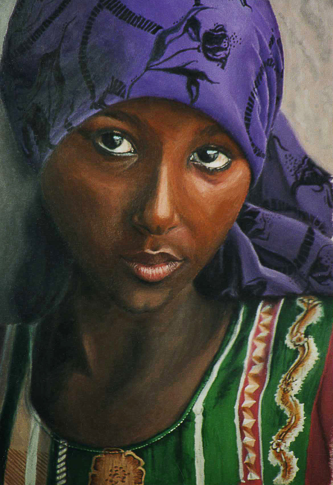 Woman of Sanaa  /  Acrylic on Mat Board  /  18 x 24 in  /  Sold