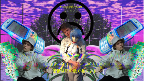 webpunk yung lean arizona sad emotions nostalgia japanese purple evangelion