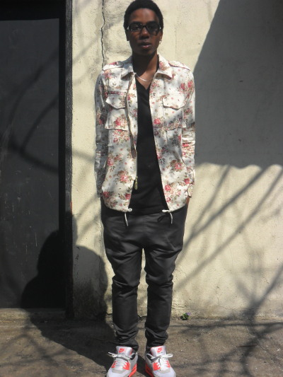 blackfashion:  Dashon, 19, NYC, waywarddavis.tumblr.com, waywaywarddavis.blogspot.com Jacket: Publish Brand / T-shirt: H&M / Pants: ILoveUgly / Sneakers: Nike Air Max