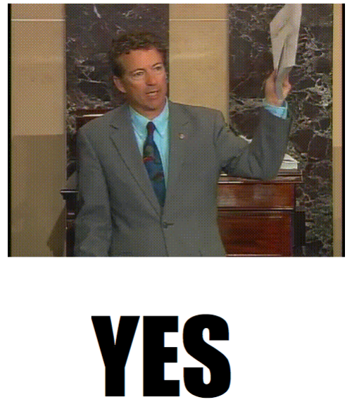 Rand Paul is currently filibustering to hold up the vote on John Brennan's confirmation as director of the CIA. He started at 11:45 am EST. You can watch the CSPAN live stream here.  At least one (humorous) place you can check for updates is israndpaulstilltalking.com. But just to be sure there always the Cheat Sheet.  (h/t @TPCarney)