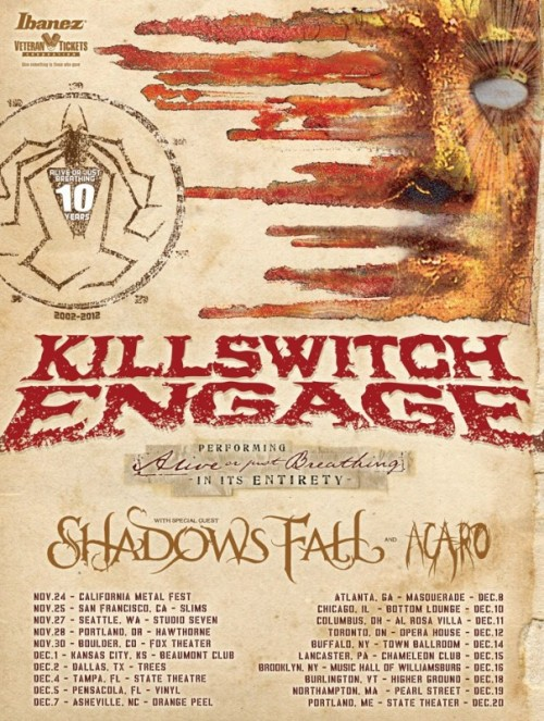 And finally this, Killswitch Engage has announced their new album, Disarm the Descent.  The pioneers of metalcore have finally returned!