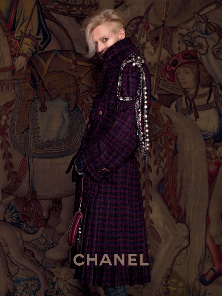 bohemea:  Tilda Swinton for Chanel Paris-Edinburgh 2013 by Karl Lagerfeld