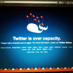 The #failwhale lives! Thanks for #regressing #twitter