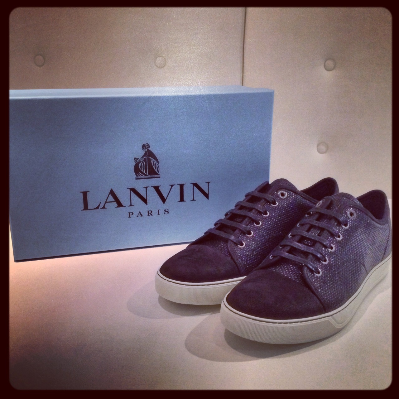 Lanvin continues to impress with this pair of black textured low-tops. Read & Shop> http://bit.ly/ViH7qi
