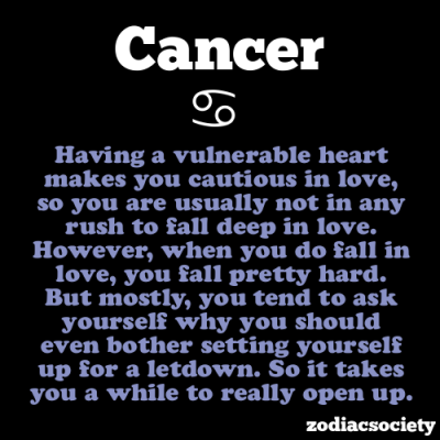 zodiacsociety:  Cancer Facts