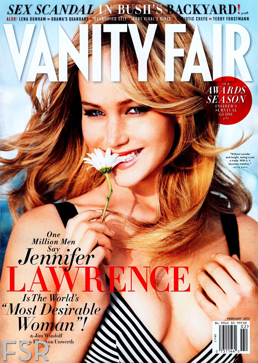 he loves me. Jennifer Lawrence in Oscar on the cover of @vanityfair