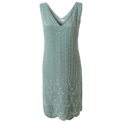 East Boutique Vintage Beaded Dress, Celedon   ❤ liked on Polyvore (see more 1920s beaded dresses)