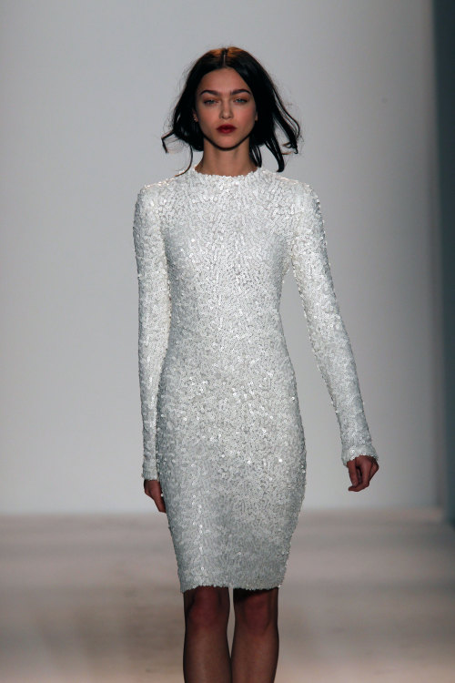 wgsn:  We want this gorgeous white sequin dress from @RachelZoe! #NYFW