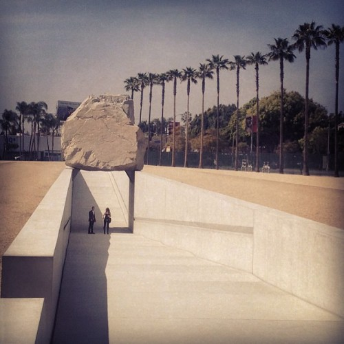 levitated mass (at Los Angeles County Museum of Art (LACMA))