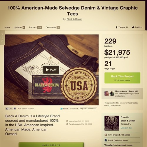 Be part of our history. Tampa's history! #kickstarter #madeinusa #madeinamerica #tampa http://kck.st/VP8FkC #fashion #style #stylish #love #me #cute #photooftheday #nails #hair #beauty #beautiful #instagood #pretty #swag #pink #girl #girls #eyes #design #model #dress #shoes #heels #styles #outfit #purse #jewlery #shopping #glam