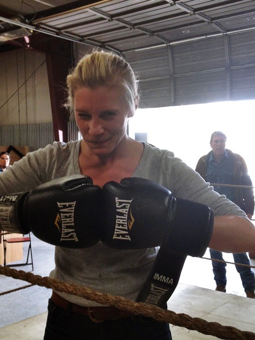 kateesackhoff:  @kateesackhoffI don't think I would've made @JoshLBarnett proud! I lost! #Longmire @AETV but got the confession! #PartOfTheplan  So excited for the MMA episode! Should be awesome.