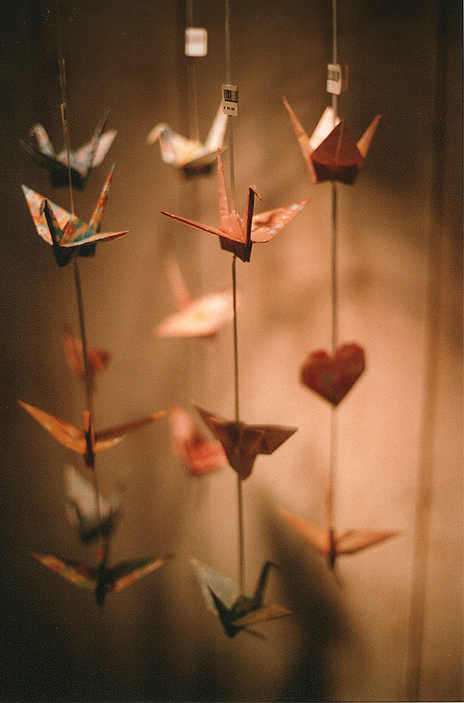 vacants:  Origami hanging there (by chacanin)