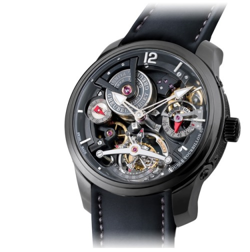 The Greubel Forsey Double Tourbillon Technique Black. Black Titanium case, black rubber strap, and two tourbillons. Enough said.