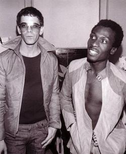 daaramfavs:  Lou Reed with Jimmy Cliff.