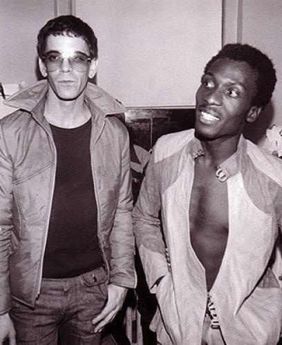 Lou Reed with Jimmy Cliff.