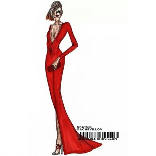 Demi Lovato VMA 2014  #demilovato #redcarpet #glam #party #fashion #style #red #dress #coloring #femmefatale #illustrations #instasketch #artwork