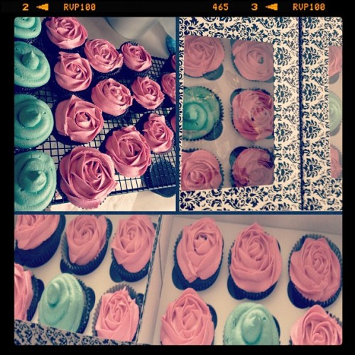 My kind of Mother's Day roses. #roses #cupcakes #baking #art #mothersday #rosecupcakes