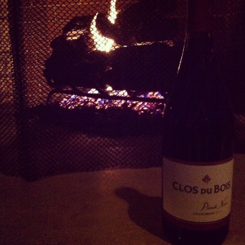Wine, fire, and the Christmas spirit. Happy holidays! xx
