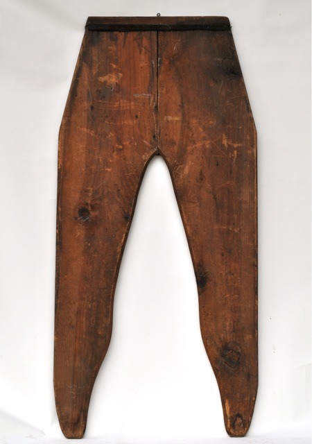mudwerks:  (via Large antique pants display ~ Candler Arts) 47 inches tall from Vermont. These would have held oversize pants probably made just for advertising.