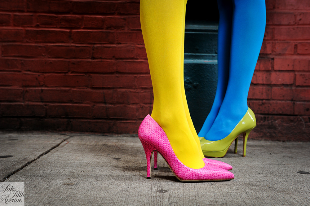 Double the color, double the fun. Pumps by Kate Spade and DiorPhoto by Kristen Somody Whalen