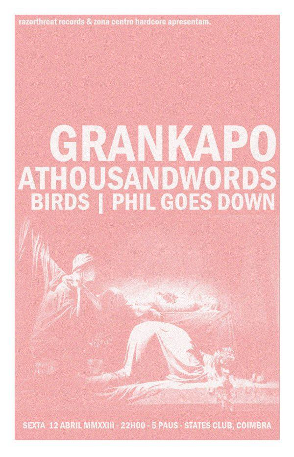 our pals & gal from Birds and Athousandwords are going to share the stage once more… this time where GD was born.