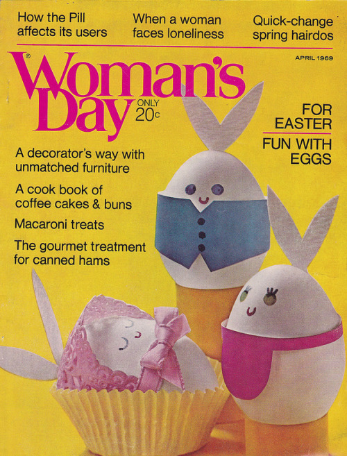 Woman's Day Easter egg cover, c. 1969 (via hmdavid)