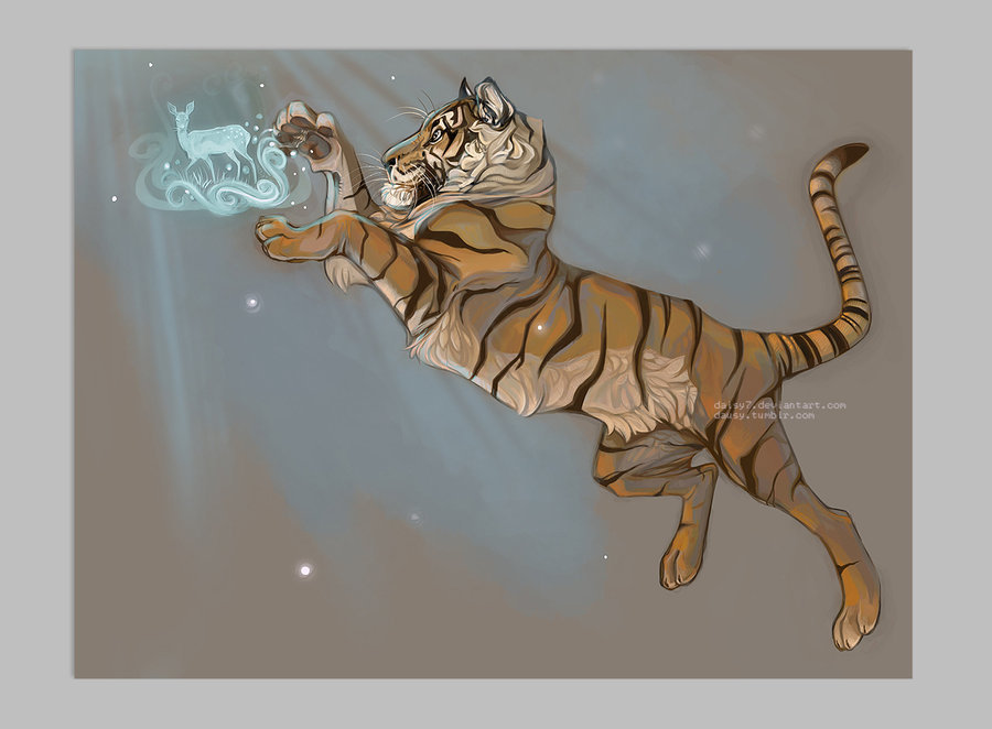 awesomedigitalart:  Tiger Magic revisited by ~daisy7
