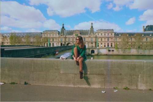 espresso by the Louvre yesterday