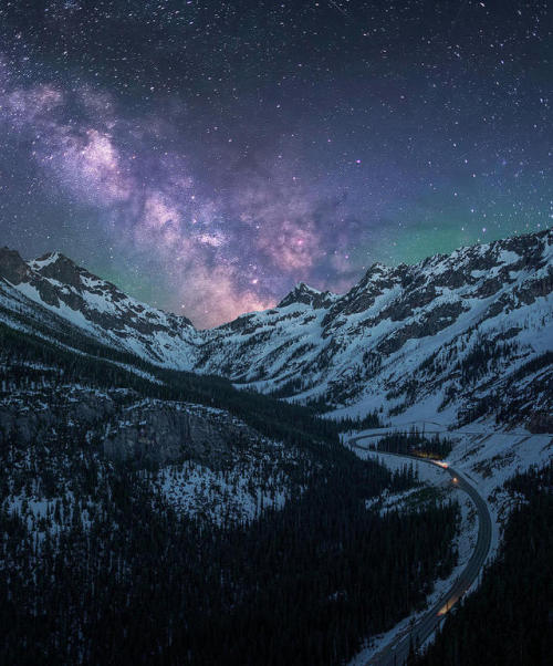 mountains astrophotography stars north cascades starry night nightscape snow landscape nature uploads