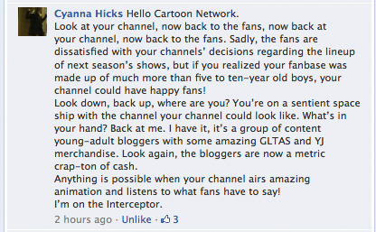 inbetweenthelineart:  junryou-reblogification:  Cyanna Hicks, you're my hero. Best reply so far on Cartoon Network's 'Annoying Orange' post.  JUN I WAS LITERALLY JUST ABOUT TO POST THIS LMAO  Cyanna Hicks Bringer of light and justice upon us.
