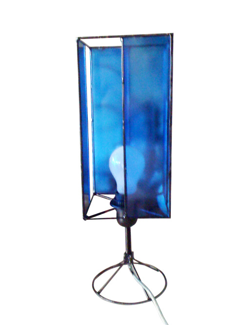 Table Lamp (Glass and Wire)
