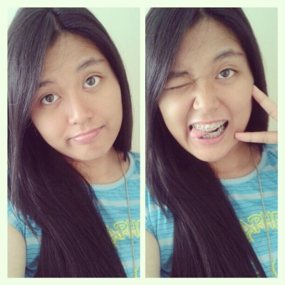 Hello~! ;) #blue #me #girl #home #sunday #pictures #wink #smile #behappy #girlathome #rawr