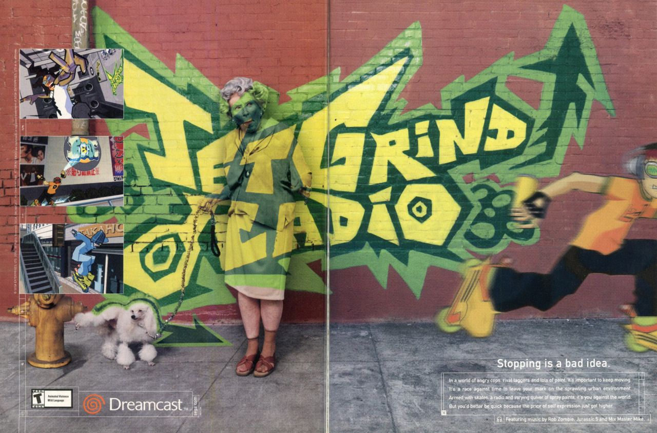 "vgprintads:  ""Jet Grind Radio"" GamePro, November 2000 (#146)   I remember this ad."