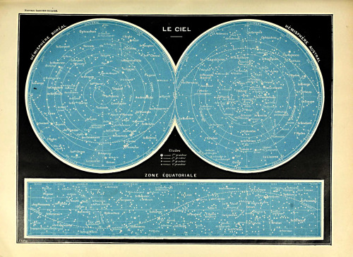 jolalal:  An astronomical chart from Nouveau Larousse illustré (1898).