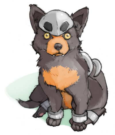 alternativepokemonart:  Artist Cute Houndour by request.