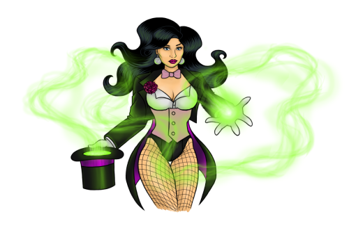 I drew and colored a pic of Zatanna. Second attempt at creating something substantial with the new tablet I got for Christmas. It's a good try. Worth giving myself a pat on the back, I suppose.