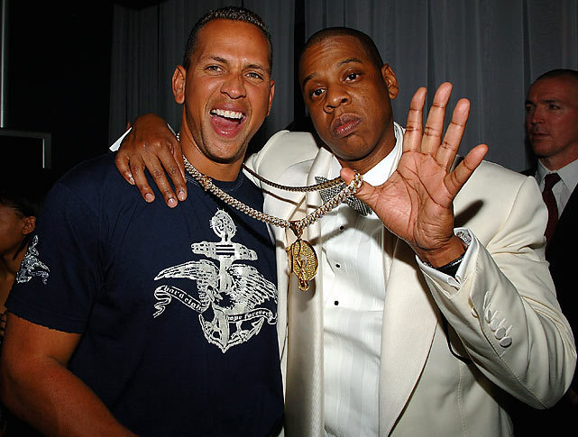 Jay-Z and Alex Rodriguez hang out at New York City's 40/40 in May, 2008. (Wireimage) GALLERY: Rare Photos of Alex Rodriguez