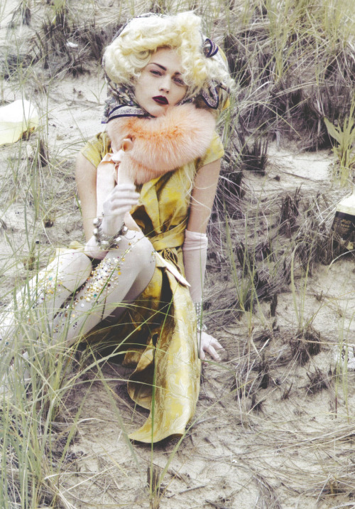 Opulence 2   Sasha Pivovarova/Vogue Italia October 2009