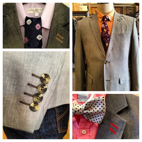Its Blazer season! Dress it up, dress it down. Add some colour to your wardrobe this season! #westqueenwest #shopsatdonmills #haightandashbury #mensfashion #style #dapper #blazer #tie #bowtie #dress #linen #instapic #instagood #colour #toronto #gq #fashion  (at Leigh and Harlow West Queen West)