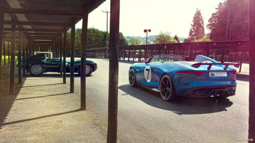 topvehicles:Jaguar D-Type and Project 7Always Reblog Jagz!