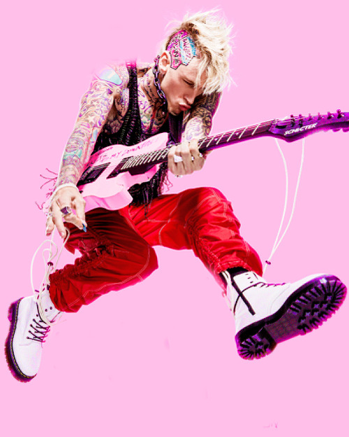 mohawkells:Machine Gun Kelly for SPIN #MachineGunKelly#laceup#est19xx