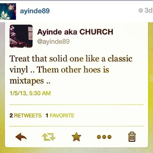 wise words from @ayinde89