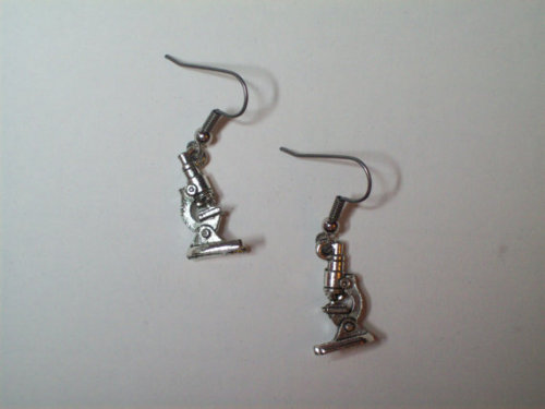 (via Gorgeous Geekery Microscope Earrings by TheRobotPrincess on Etsy)