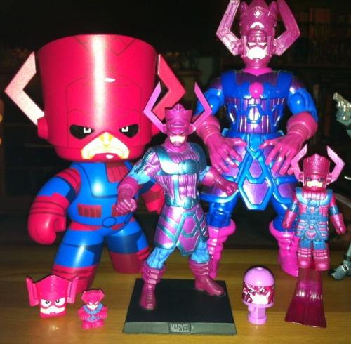 The portion of my Galactus collection that is small enough to fit on my coffee table and not obstruct the view of my TV.