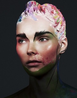 make-up-is-an-art:  Julia Valimaki by Bjarne Johansson for Wonderland, September/October 2012
