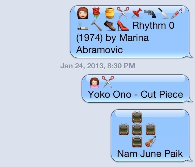 utnereader:  Emoji Art History  Read more at Hyperallergic.