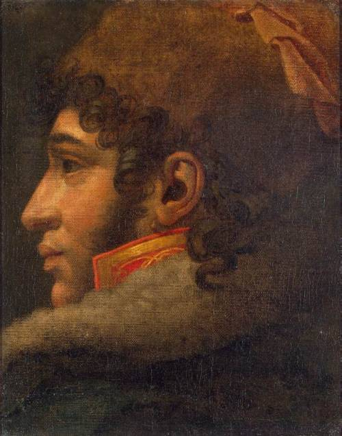 kaiserohnepurpur:  Portrait of Joachim Murat, Anne-Louis Girodet de Roucy-Trioson Oil on canvas, 41 x 33 cm The Hermitage, St. Petersburg